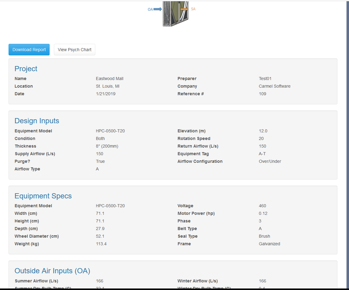 HVAC Equipment Selection Software