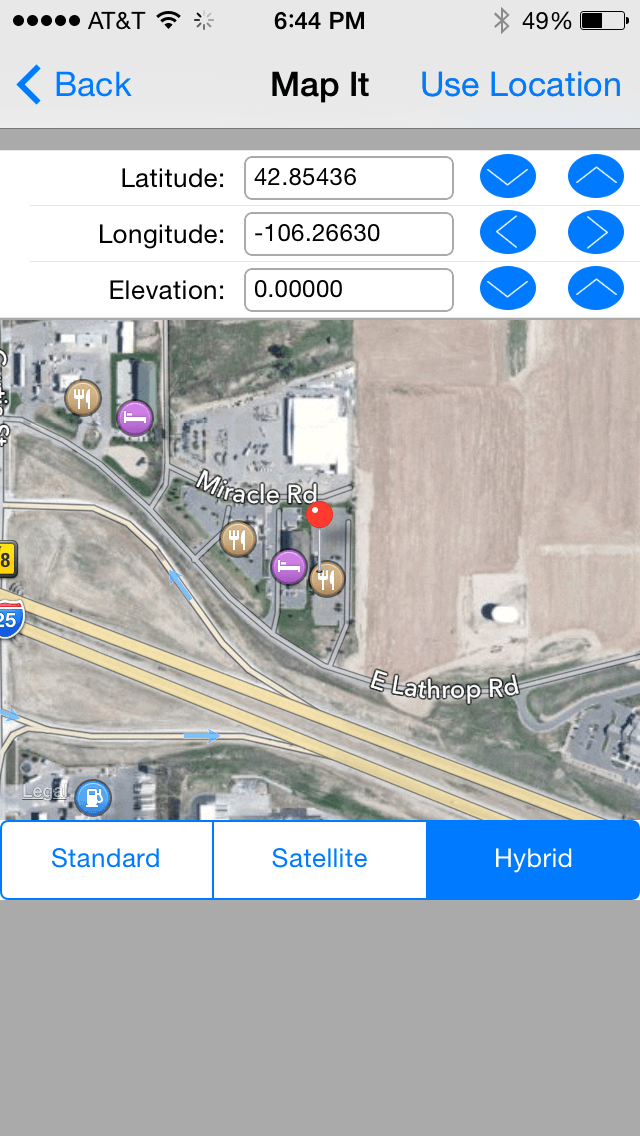 HVAC Equipment Locator iPhone map