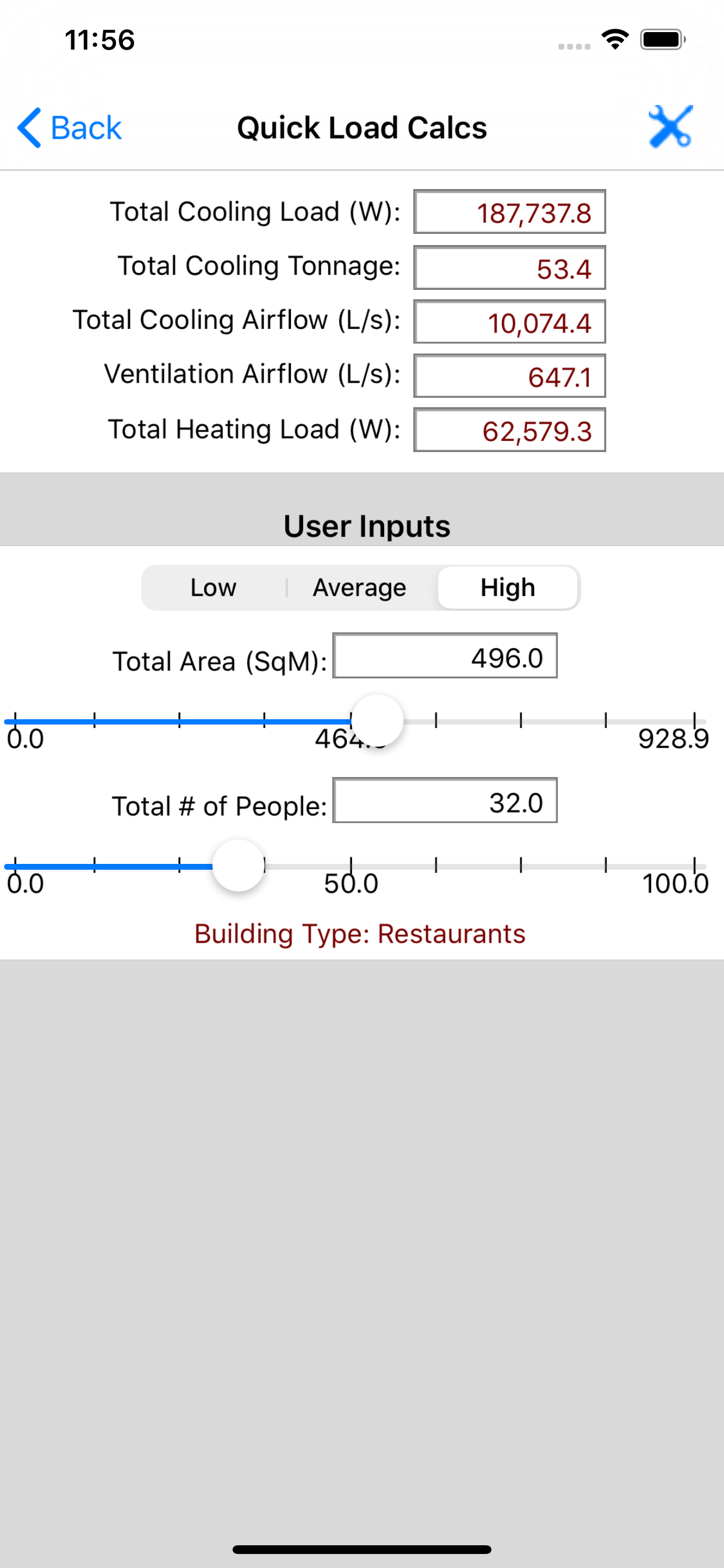 HVAC Quick Load app